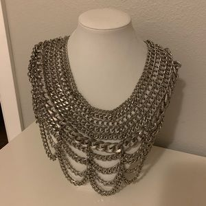 Baublebar Courtney bib statement necklace silver